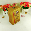 Vintage style decorative rectangle metal coffee storage tins