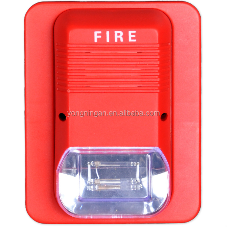 DC24V Conventinal High quality Fire Alarm Conventional Sounder Strobe Lights with Base