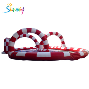 Diverting inflatable obstacle circle adult twister racing games for sale