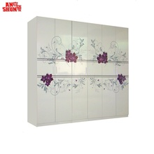 CAS-095 Knock Down Flatpack Home Country Style Bedroom Wardrobe Design