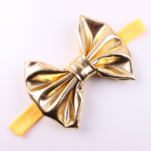 F0159 baby girl hair accessories colorful artificial decorative bow baby elastic hair band