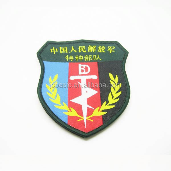 free sample customized designed laser cut red letter woven patches