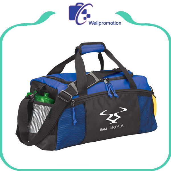 Custom sports travel bag, nylon duffle sports gym bag with custom logo