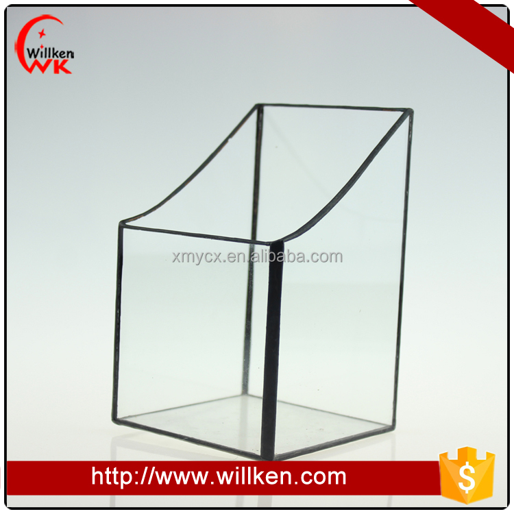 Clear glass vase home decorative terrarium pen container