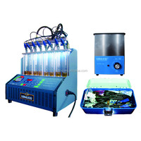 8 cylinders, Tektino INJ-8B Ultrasonic Fuel Injector Cleaner and Tester Machine