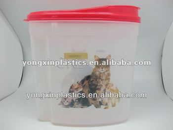 plastic pet food container.disposable food container