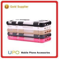 [UPO] Sport Style Hard Plastic PC TPU Hybrid Phone Case with Invisible kickstand for Apple iPhone 5