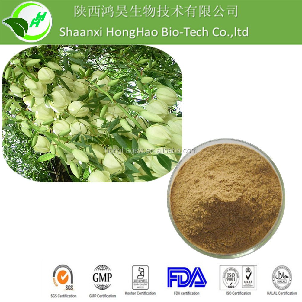 Feed Grade 100% Pure Natural CAS No. 90147-57-2 UV 50% saponin yucca schidigera extract