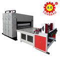 automatic feeding two colour printing and slotting machine