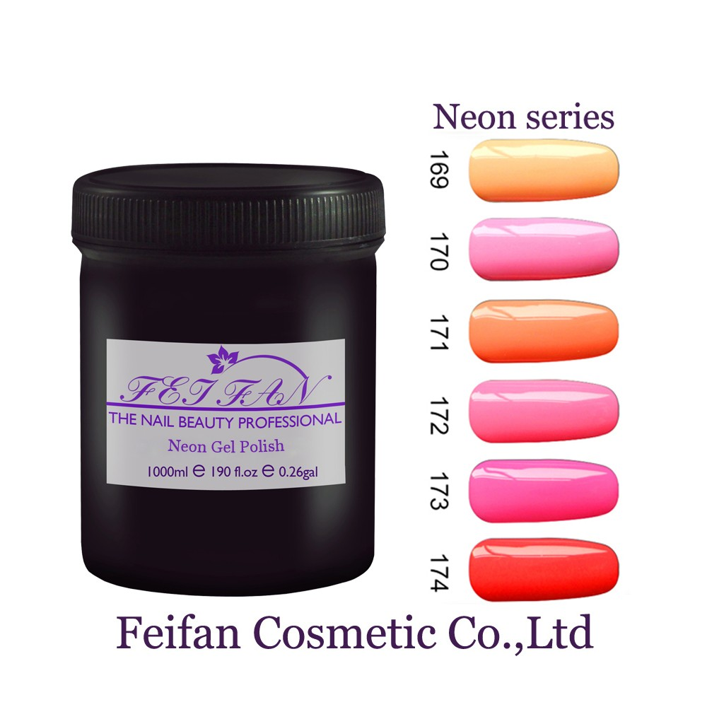 2017 Fei Fan OEM Gel Nail Polish Own Brand Neon Color Soak Off Nail Gel Polish Free Sample UV Gel Polish