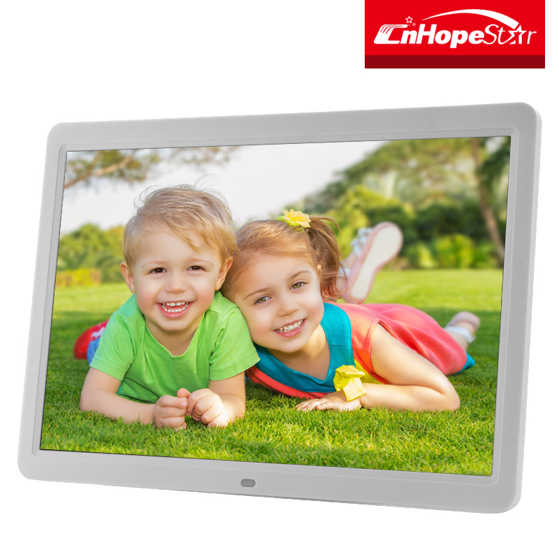 Cheap hd advertising electric digital photo gif picture frame 15 inch