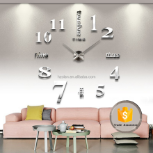 DIY Large Wall Clock Home Office Decor 3D Wall Clock