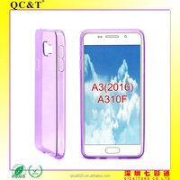 guangzhou New Matte Tpu Gel Back Cover for samsung A3 2016 A310F case