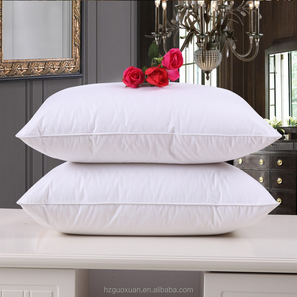 Wholesale Super Soft Head / Neck Pillow 100% Cotton Microfiber Fiiling Pillow insert for hotel