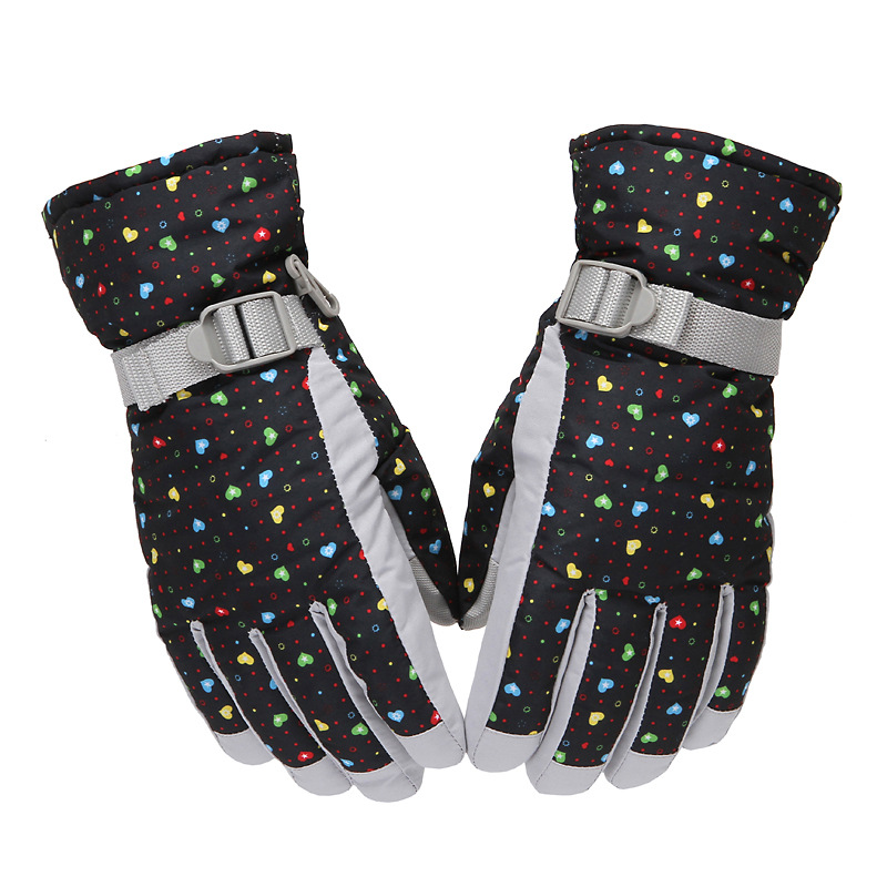 Wholesale warm ski gloves riding gloves men and women non - slip waterproof gloves
