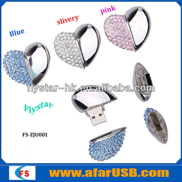 beautiful jewelry diamond usb flash drive 128MB-64GB