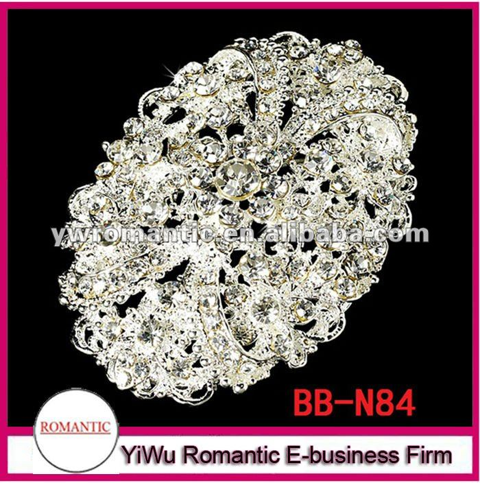 vintage rhinestone large wedding brooches