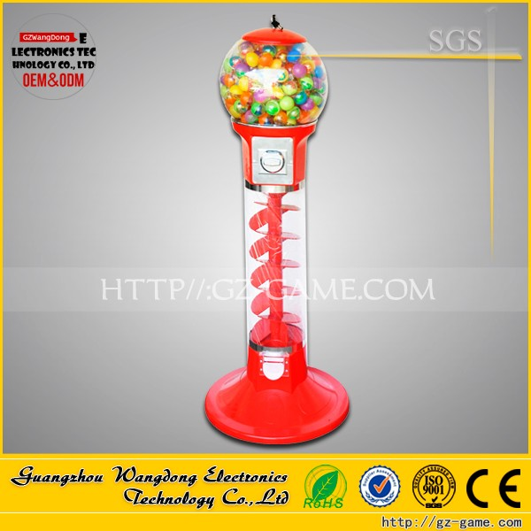 Guangzhou factory coin operated gumball candy toy gift capsule vending machine for game center