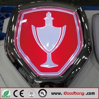 Outdoor Luminated Led Lighting Vacuum Thermoforming Car Logo
