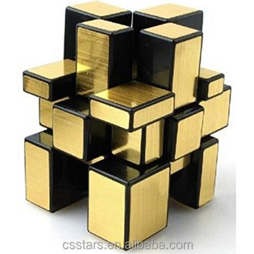 3 x 3 Gold Mirror Cube Puzzle
