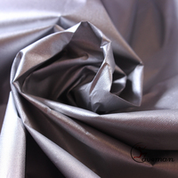 300T Blackout car cover two side silver coating coated polyester taffeta fabric