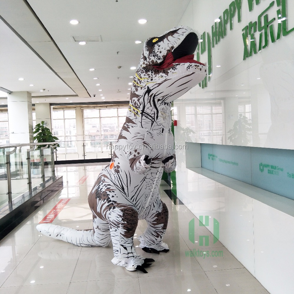 HI Guangzhou factory Adult Inflatable Costume cosplay inflatable t-rex costume