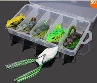 Silicone lure frog fishing lure Tackle Box Soft Frog Lure