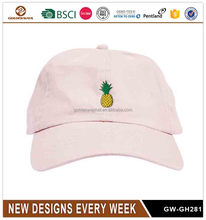 Europe Style Sweet Pineapple Design Embroidery Custom Dad <strong>Hat</strong>