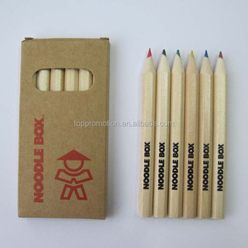 "promotion 3.5"" 6pcs colour set wooden color pencil for promotion"