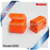2013 Newest Business item double adapter plug socket with US/UK/EU/AUS plug with CE&ROHS