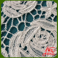 2016 heavy TRADE ASSURANCE high quality chemical embroidery guipure lace fabric