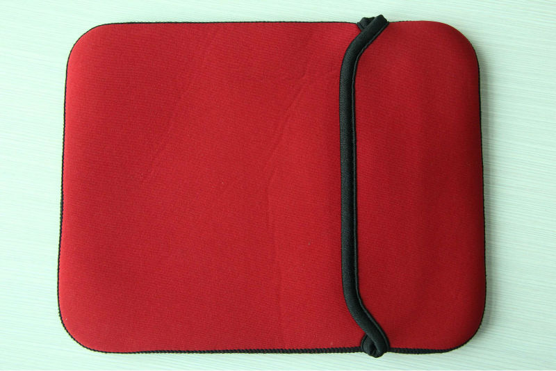 2014 cheap shockproof red neoprene sleeve case for apple ipad