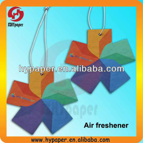 Paper fragrance card perfume scents air freshener