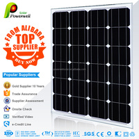 Powerwell Soalr 65w 12v mono solar panel high quality and efficiency good price with CEC/IEC/TUV/ISO/INMETRO/CE certifications