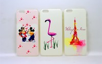 New Fashion Color Painting Embossed Silicone Back Case for Iphone 6 Silicone Case
