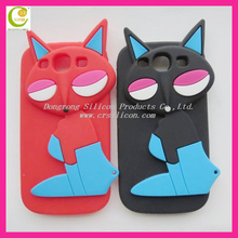 3D angry animal silicone rilakkuma phone case for samsung galaxy s3/i9300