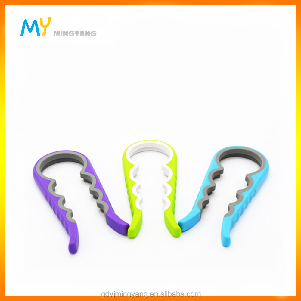 4 in 1 multi-function PP plastic TPR jar bottle can opener