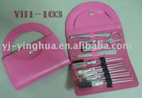 9pcs cosmetic and manicure set in handbag