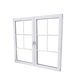 French style aluminum double casement windows for homes