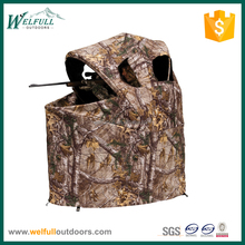 Folding hunting tent blind chair for 1 person