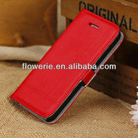 FL2772 2013 Guangzhou High Quality magnetic PU Leather Pouch Case Stand for iphone 5c