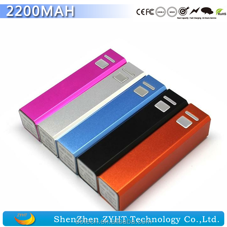 2200mAh Slim Cell Phone Power Back with High Quality Full Capacity Cheap Power Bank