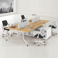 Modern popular style 4 person office low partition