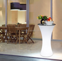 Direct selling outdoor led remote control light table and chair stool bar counter high tea table furniture