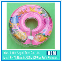 Inflatable baby swimming neck buoy ring