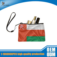 Oman national mini resuable cosmetic bag for travel customized pencil case mini ziplock bags