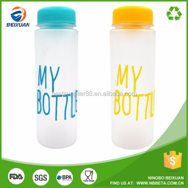 2017 hot selling BPA free plastic water bottles my bottle for drinking