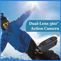 Dual Lens Action Video Camera 1080P+720P Novatek 96655 Sport Camera Outdoor Diving 60m Waterproof Video Camcorder