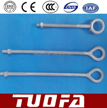 High strength eye bolt with lag screw zinc plated manufacturer In China
