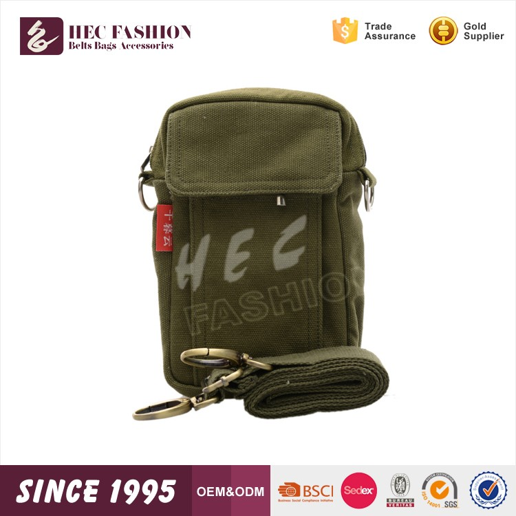 HEC On Line Shopping Single Sling Green Color Durable Mens Cross Body Bag